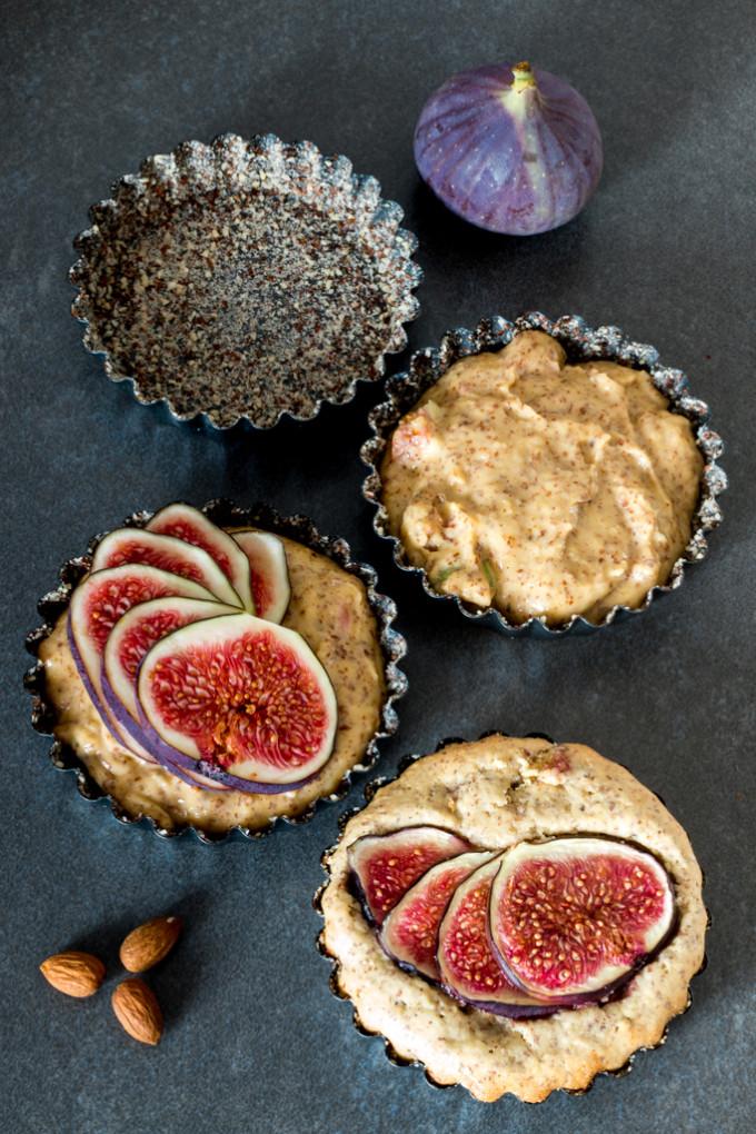 Mandlové koláčky s čerstvými fíky