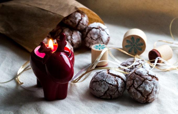 Popraskané pomerančovo-kokosové sušenky (Crinkle cookies)